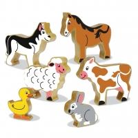 Wooden Block Farm Animals/ Houtblok Plaasdiere image