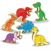 Wooden Block Dinosaurs/ Houtblok dinosourusse image